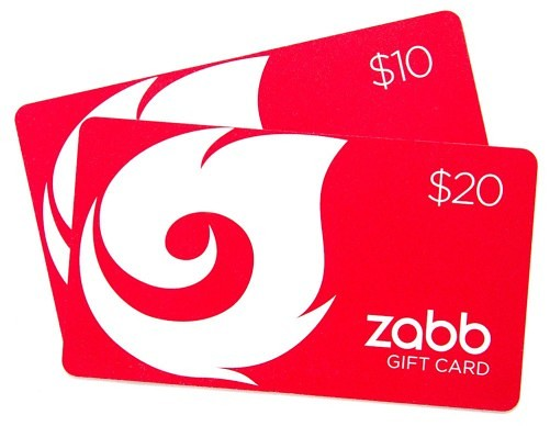 Zabb Gift Cards - The Perfect Gift
